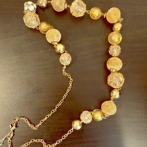 Macys very cute gold tone necklace